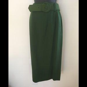 Vintage Saks 5th  Belted Maxi Pencil Skirt. 10.